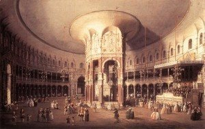 (Giovanni Antonio Canal) Canaletto - London   Ranelagh Interior Of The Rotunda 1754
