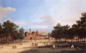 (Giovanni Antonio Canal) Canaletto - London   The Old Horse Guards And Banqueting Hall  From St James S Park