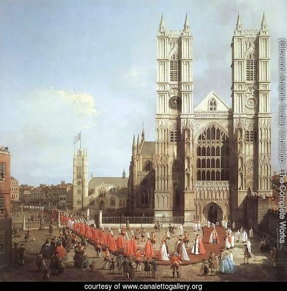 London   Westminster Abbey With A Procession Of Knights Of The Bath 1749