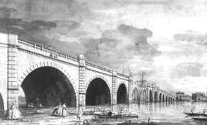 (Giovanni Antonio Canal) Canaletto - London   Westminster Bridge Under Repair