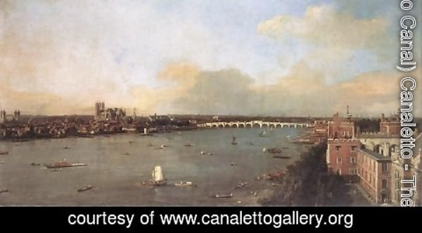 (Giovanni Antonio Canal) Canaletto - London Seen From An Arch Of Westminster Bridge