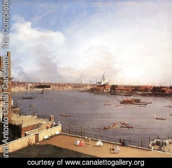 (Giovanni Antonio Canal) Canaletto - London The Thames And The City Of London From Richmond House