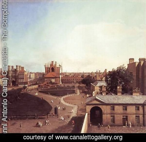 (Giovanni Antonio Canal) Canaletto - London Whitehall And The Privy Garden From Richmond House