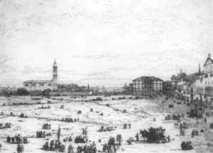 (Giovanni Antonio Canal) Canaletto - Padua The Prato Della Valle With Santa Giustinia And The Church Of Misericordia   2