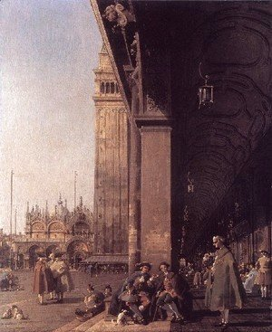 (Giovanni Antonio Canal) Canaletto - Piazza San Marco   Looking East From The South West Corner