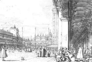 (Giovanni Antonio Canal) Canaletto - Piazza San Marco   Looking East From The South West Corner Ii