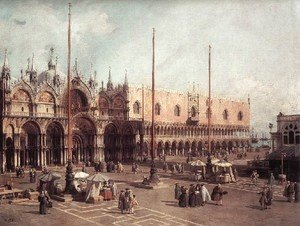 (Giovanni Antonio Canal) Canaletto - Piazza San Marco   Looking South East