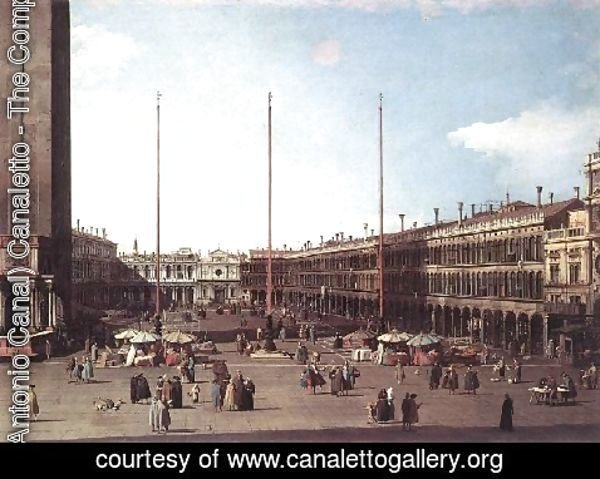 (Giovanni Antonio Canal) Canaletto - Piazza San Marco Looking Toward San Geminiano