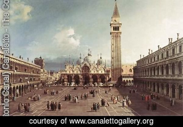 (Giovanni Antonio Canal) Canaletto - Piazza San Marco With The Basilica