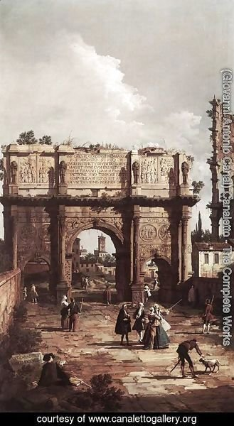 (Giovanni Antonio Canal) Canaletto - Rome The Arch Of Constantine