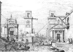 (Giovanni Antonio Canal) Canaletto - The Arsenal   The Water Entrance
