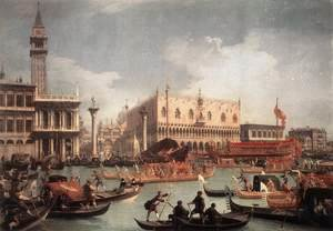 (Giovanni Antonio Canal) Canaletto - The Bucintore Returning To The Molo On Ascension Day