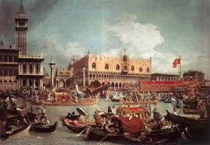 (Giovanni Antonio Canal) Canaletto - The Bucintoro Returning To The Molo On Ascension Day