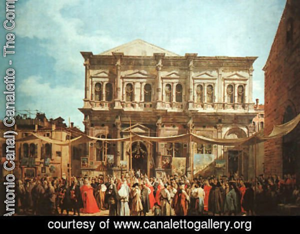 (Giovanni Antonio Canal) Canaletto - The Feast Day Of St Roch