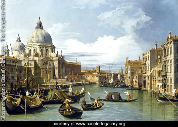 The Grand Canal And The Church Of The Salute