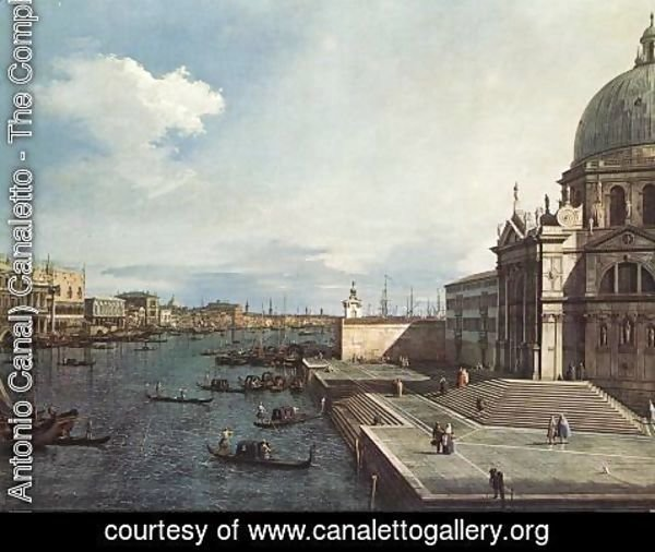(Giovanni Antonio Canal) Canaletto - The Grand Canal At The Salute Church