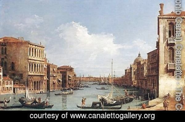 (Giovanni Antonio Canal) Canaletto - The Grand Canal From Campo S  Vio Towards The Bacino
