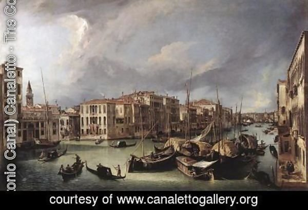 (Giovanni Antonio Canal) Canaletto - The Grand Canal With The Rialto Bridge In The Background