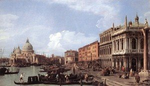 (Giovanni Antonio Canal) Canaletto - The Molo    Looking West
