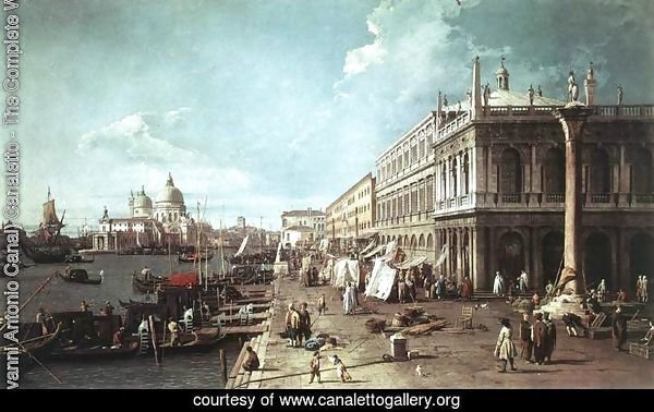 The Molo With The Library And The Entrance To The Grand Canal