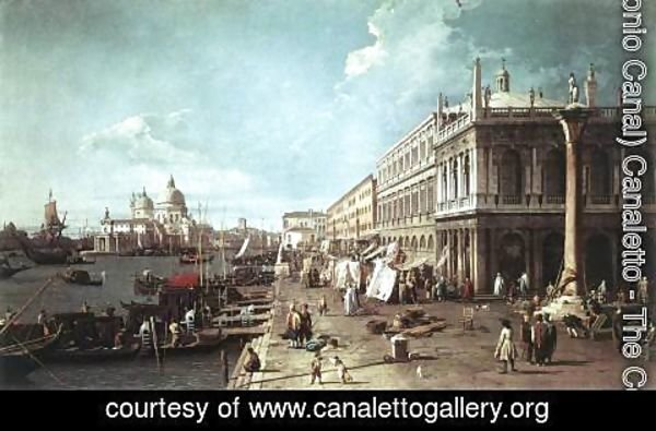 (Giovanni Antonio Canal) Canaletto - The Molo With The Library And The Entrance To The Grand Canal