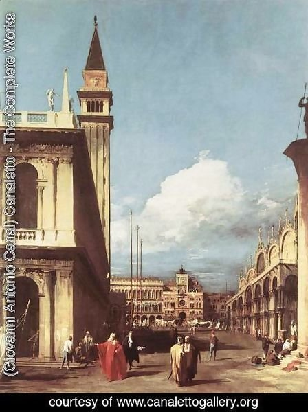 (Giovanni Antonio Canal) Canaletto - The Piazzetta  Looking Toward The Clock Tower