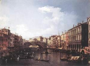 (Giovanni Antonio Canal) Canaletto - The Rialto Bridge From The South
