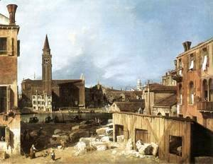 (Giovanni Antonio Canal) Canaletto - The Stonemason's Yard 1728