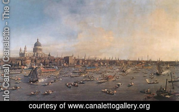 (Giovanni Antonio Canal) Canaletto - The Thames And The City