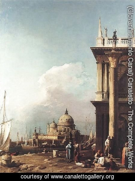(Giovanni Antonio Canal) Canaletto - Venice   The Piazzetta Looking South West Towards S  Maria Della Salute