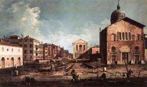 (Giovanni Antonio Canal) Canaletto - View Of San Giuseppe Di Castello