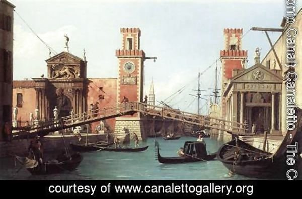 (Giovanni Antonio Canal) Canaletto - View Of The Entrance To The Arsenal
