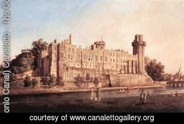 (Giovanni Antonio Canal) Canaletto - Warwick Castle  The South Front