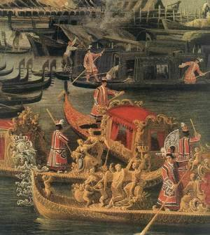 Arrival of the French Ambassador in Venice (detail 2) 1740s