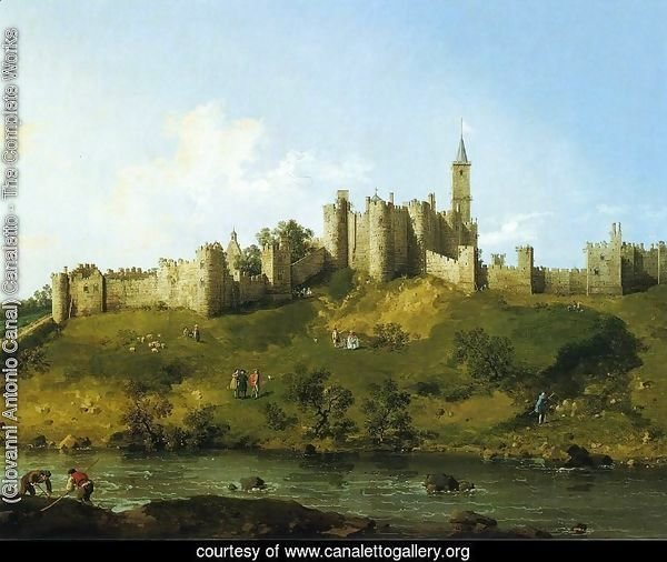 Alnwick Castle at Northumberland 1752