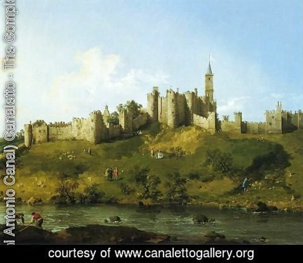 (Giovanni Antonio Canal) Canaletto - Alnwick Castle at Northumberland 1752