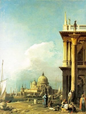 (Giovanni Antonio Canal) Canaletto - Entrance to the Grand Canal from the Piazzetta, 1727
