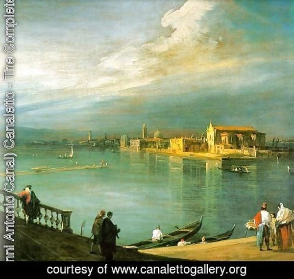 (Giovanni Antonio Canal) Canaletto - San Cristoforo  San Michele and Murano   From Fondamenta Nuova, 1725-30