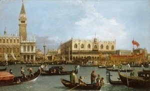 (Giovanni Antonio Canal) Canaletto - The Basin of San Marco on Ascension Day 1732