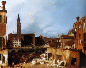 (Giovanni Antonio Canal) Canaletto - Stonemason's Yard at San Vidal