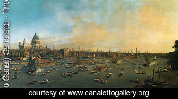 (Giovanni Antonio Canal) Canaletto - Thames and the City